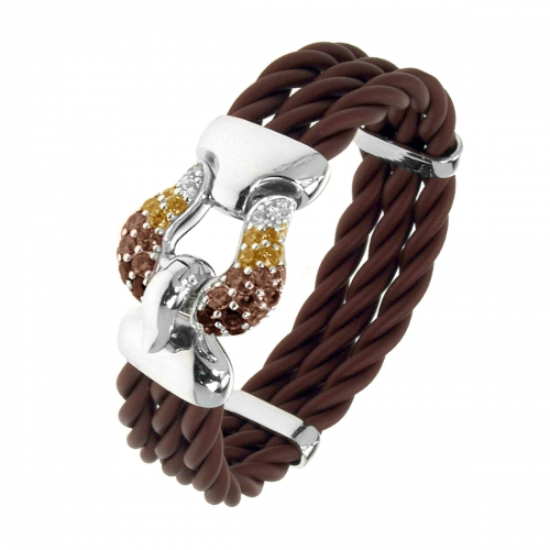 Belle Etoile Belle Etoile Lasso Brown Bangle