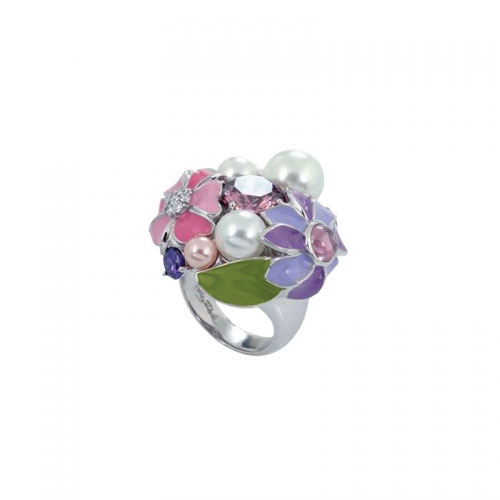 Belle Etoile Bouquet Spring Silver Ring