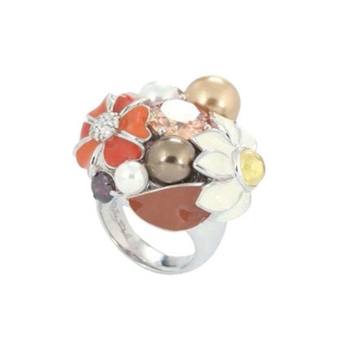 Belle Etoile Bouquet Fall Silver Ring