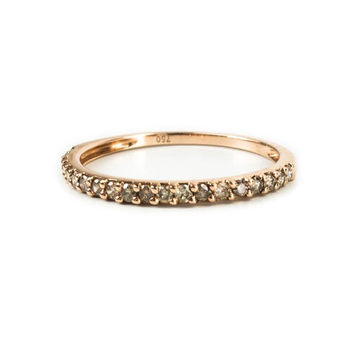Belle Chique Rose Gold Ring With Brown Diamonds