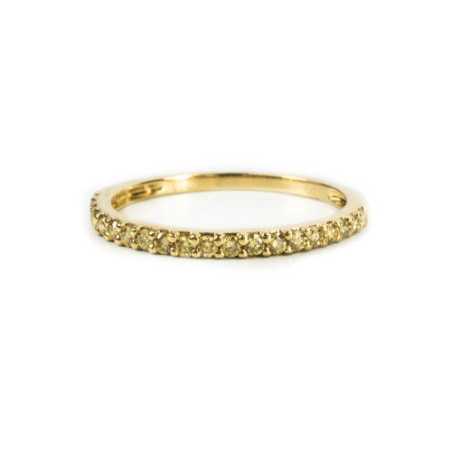 Belle Chique Yellow Gold Ring With Yellow Diamonds