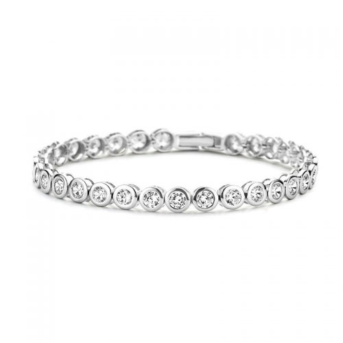Claudine Stainless Steel Tennis Bracelet