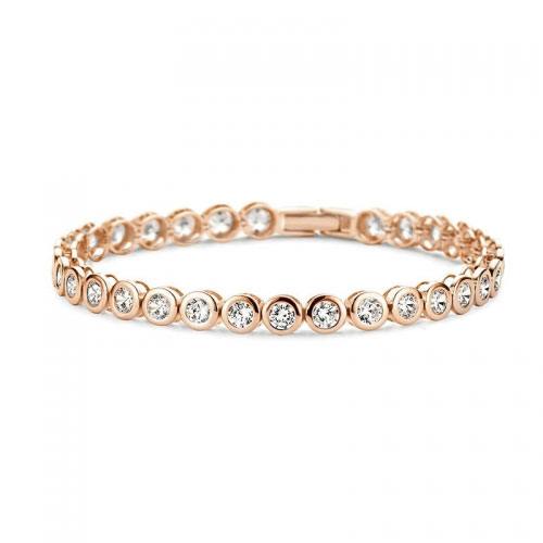 Claudine Rose Gold Plated Tennis Bracelet