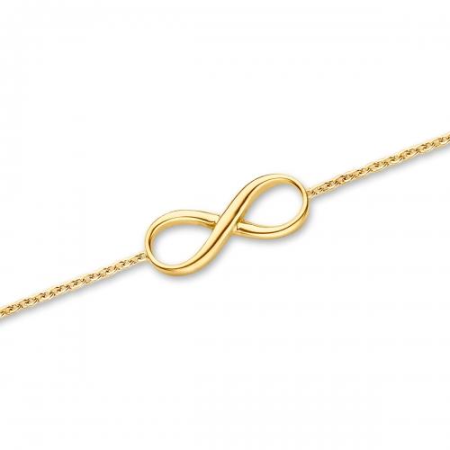 Claudine Infinity Gold Tone Bracelet