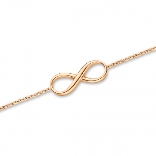 Claudine Infinity Rose Gold Plated Bracelet
