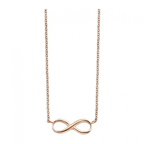 Claudine Infinity Rose Gold Plated Necklace