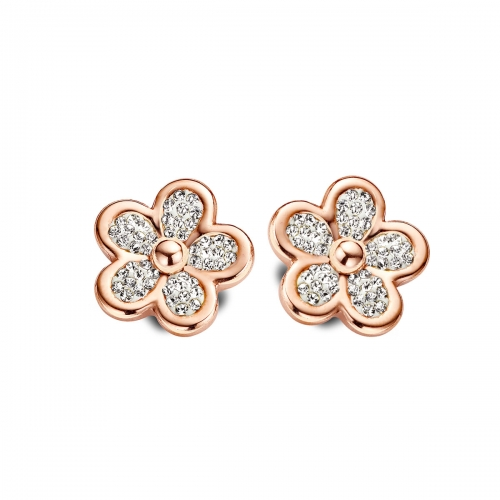 Claudine Rose Gold Plated Daisy Earrings