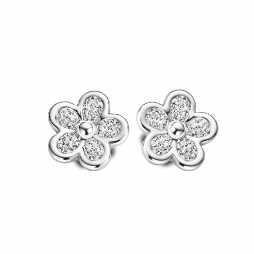 Claudine Silver Plated Daisy Earrings
