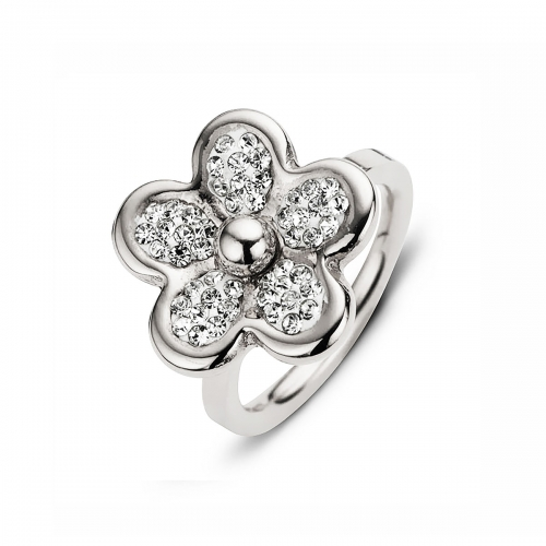 Claudine Silver Plated Daisy Ring