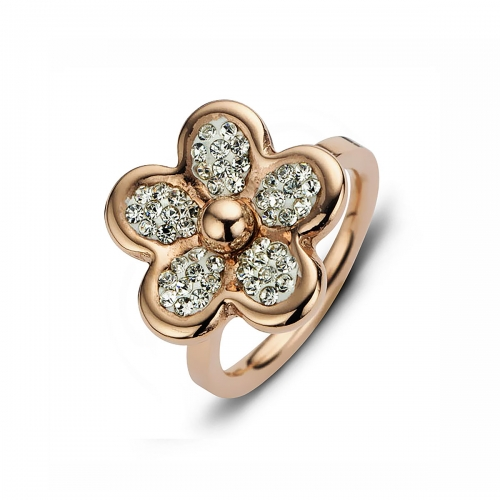 Claudine Rose Gold Plated Daisy Ring