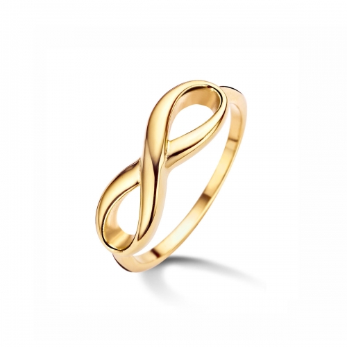 Claudine Infinity Gold Plated Ring