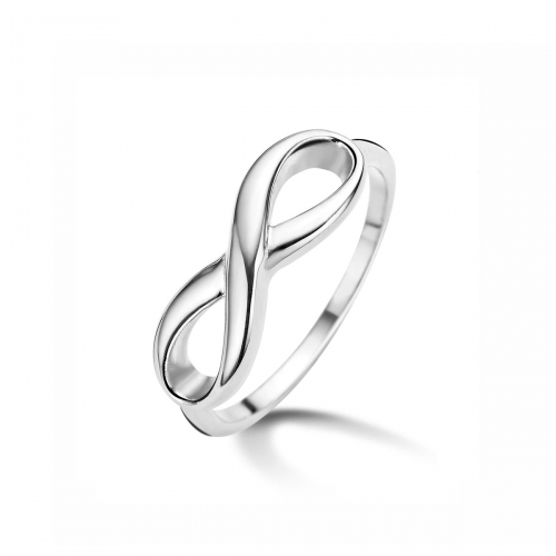 Claudine Infinity Silver Plated Ring