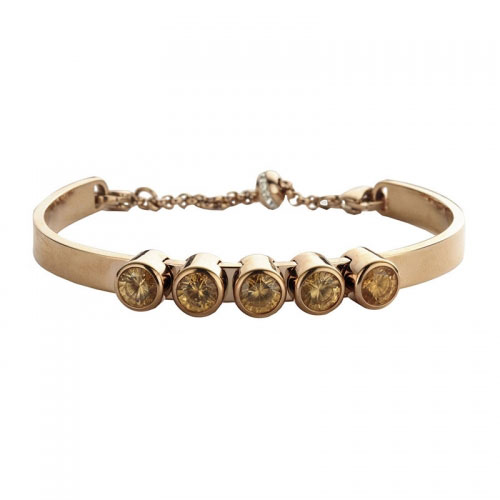 Claudine Champagne CZ Rose Gold Plated Bracelet