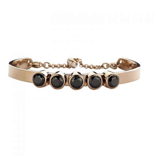 Claudine Black CZ Rose Gold Plated Bracelet