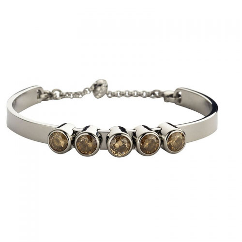 Claudine Champagne Silver Plated Bracelet