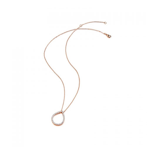 Kaytie Wu Rose Gold Plated Water Drop Necklace With Swarovski Crystals