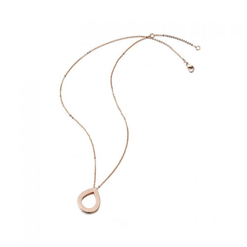 Kaytie Wu Rose Gold Plated Water Drop Necklace