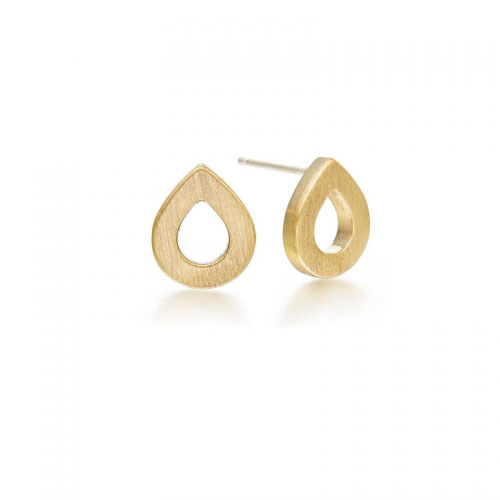 Kaytie Wu Gold Plated Water Drop Earrings