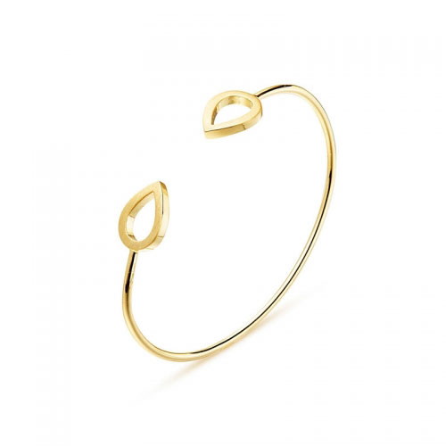 Kaytie Wu Gold Plated Water Drop Bangle