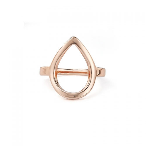 Kaytie Wu Rose Gold Plated Water Drop Ring