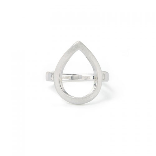 Kaytie Wu Silver Plated Water Drop Ring