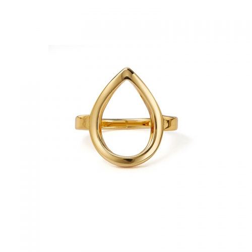 Kaytie Wu Gold Plated Water Drop Ring