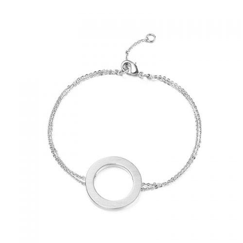 Kaytie Wu Silver Plated Circle Bracelet