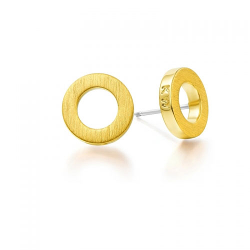 Kaytie Wu Gold Plated Circle Earrings