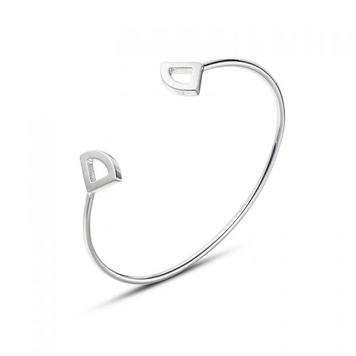 Kaytie Wu Silver Plated Fan Bangle