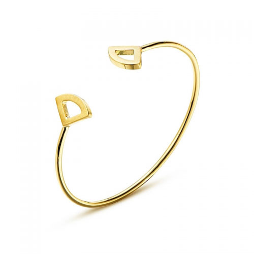 Kaytie Wu Gold Plated Fan Bangle