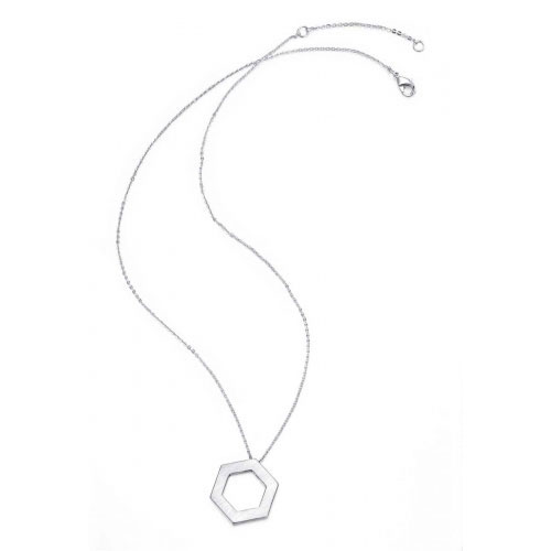Kaytie Wu Kaytie Wu Silver Plated Hexagon Necklace