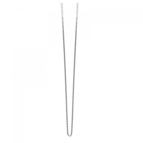 Zinzi Sterling Silver Tennis 45cm Necklace