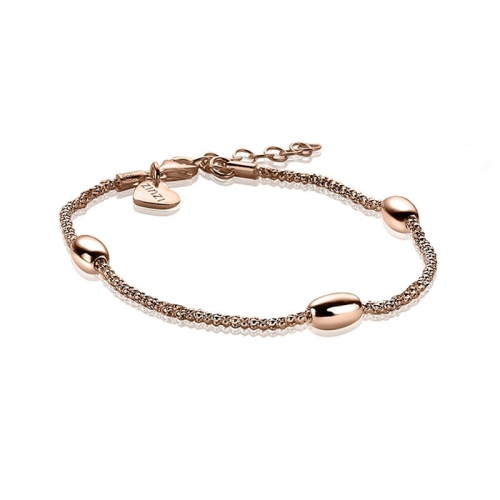 Zinzi Rose Gold Plated Fantasy Bracelet