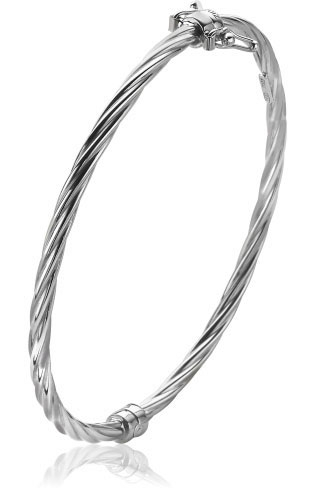 Zinzi Sterling Silver 60mm Bangle