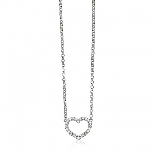 Zinzi Silver Heart Necklace