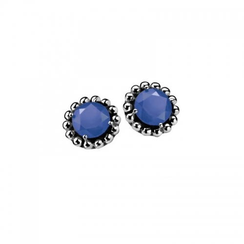 Zinzi Silver Earrings with Blue Zirconia
