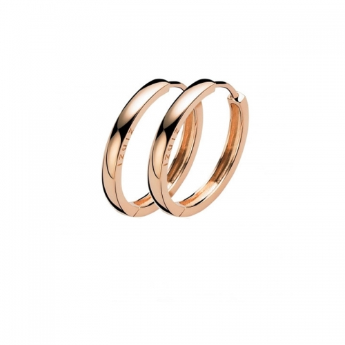 Zinzi Rose Gold Plated Silver Hoop Earrings