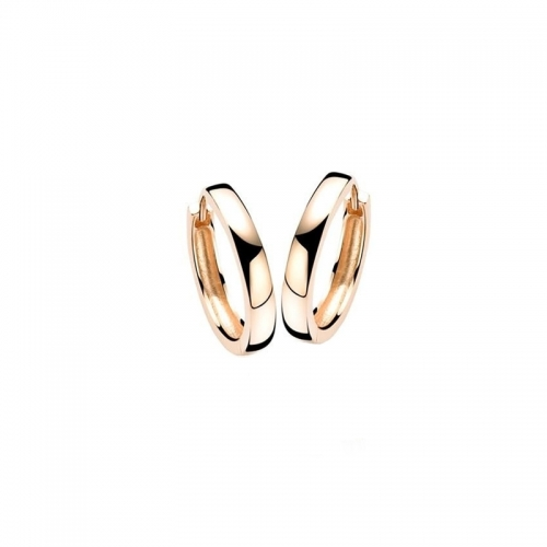 Zinzi Rose Gold Plated Hoop Earrings