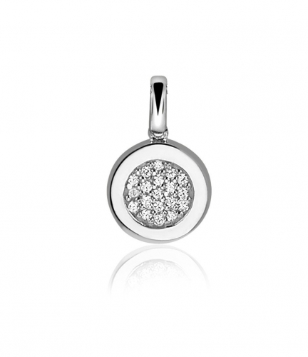 Zinzi Silver Pendants With White Zirconias