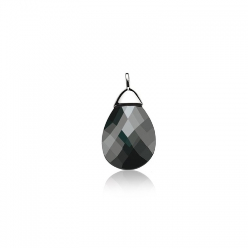 Zinzi Silver and Black Necklace Pendant