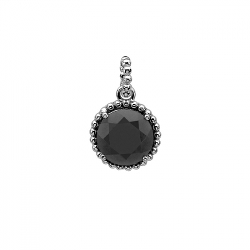 Zinzi Black and Silver Pendant