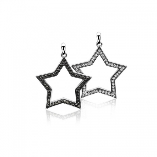 Zinzi Double Sided Zirconia Star Pendant