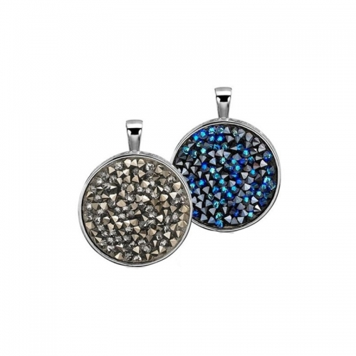 Zinzi Double Sided Swarovski Crystal Pendant