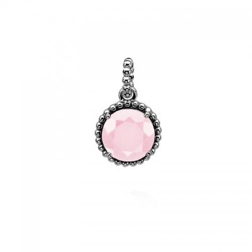 Zinzi Pink and Silver Pendant
