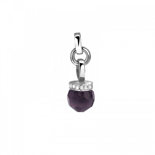 Zinzi Purple Swarovski and Silver Pendant