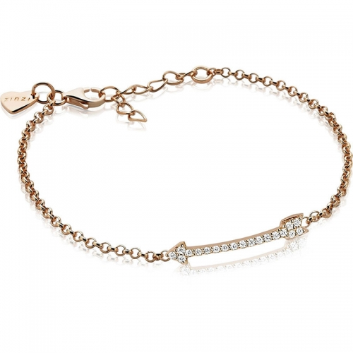 Zinzi Rose Gold Plated Cupid Arrow Bracelet