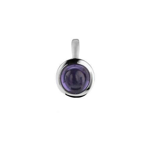 Zinzi Purple Zirconia Pendant
