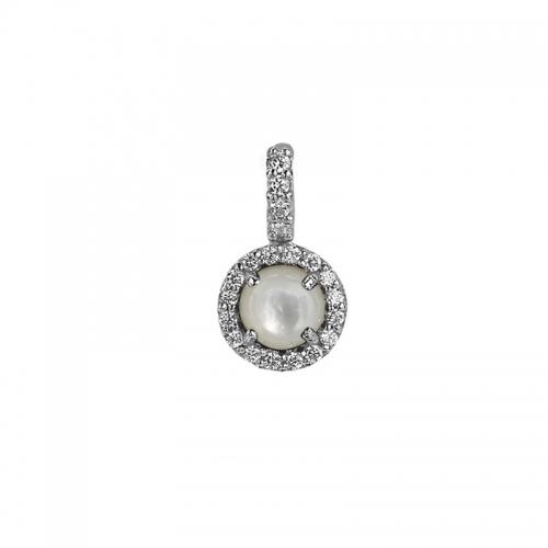 Zinzi White Pearl Pendant
