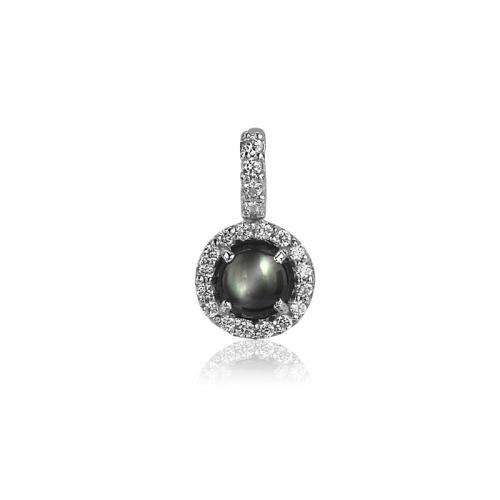 Zinzi Dark Grey Pearl Pendant