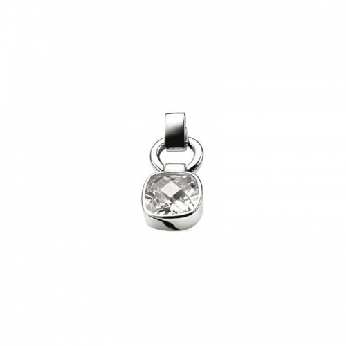 Zinzi Silver and White Zirconia Pendant